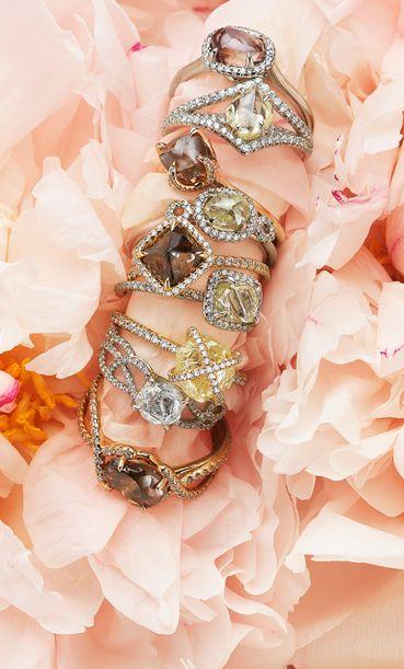 """""""Diamonds In The Rough"""" Various Rough Diamond Rings"""
