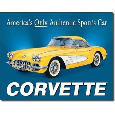 $8.40 Chevrolet Chevy Corvette 1958 Sports Car Retro Vintage Tin Sign  From Poster Revolution   Get it here: astore.amazon.com...