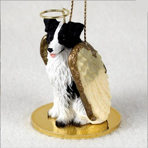 Border Collie Guardian Angel Dog Ornament