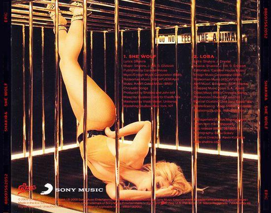 Carátula Trasera de Shakira - She Wolf (Cd Single)