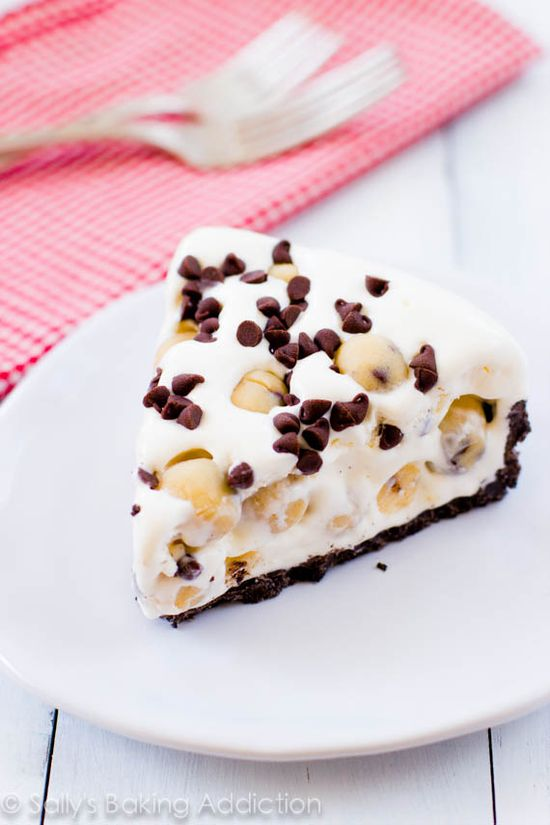 Chocolate Chip Cookie Dough Ice Cream Pie