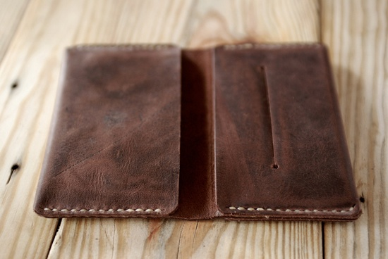 Iphone 4 case (or iphone 5). Artisan Iphone leather wallet. Hand stitched iphone leather case. Perfect gift for men. IPH001. $63.00, via Etsy.