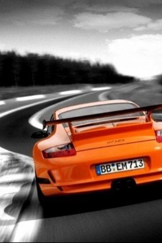 ? Orange sports car
