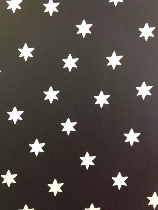 Wallpaper Black with white stars