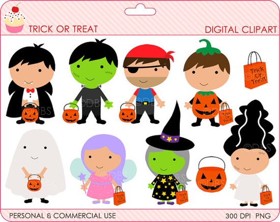 halloween clipart digital clip art trick or by DigitalBakeShop, $3.00