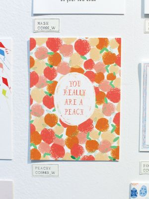 """you really are a peach"" card by Mr. Boddington"