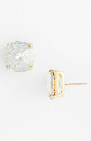 kate spade new york stud earrings- Clear Crystal/Gold