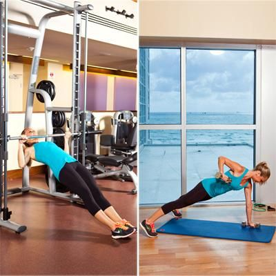One workout, two ways: Get slim with or without the gym