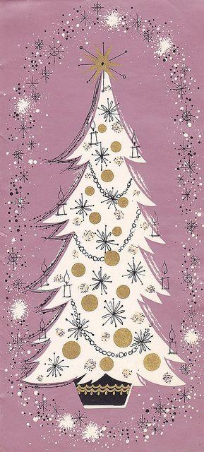 American Greetings Lavender Christmas by hmdavid, via Flickr