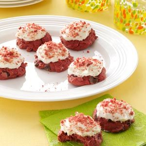 Red Velvet Cookies Recipe from Taste of Home -- shared by Mindy Young of Hanover, Pennyslvania
