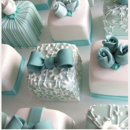 Present Cakes. Love the colors!