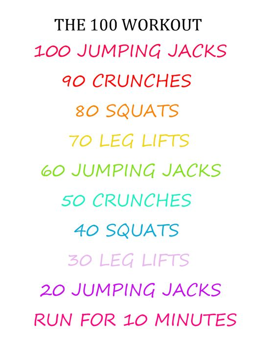 THE 100 WORKOUT