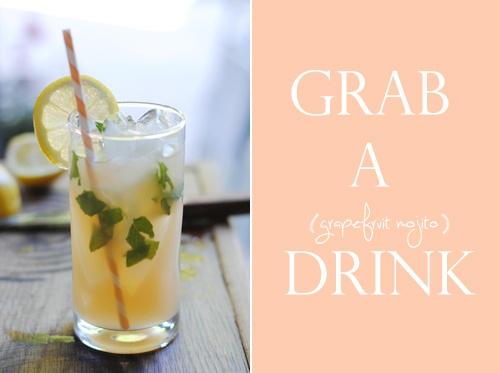 summer grapefruit mojito