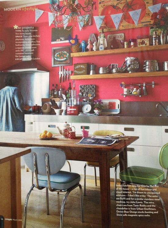 Red kitchen open #kitchen design ideas #kitchen interior #kitchen decorating before and after #living room design