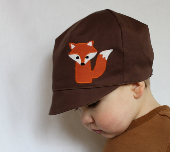 STYLISH HAT  Reversible Fox Hat  Baby Toddler or Child by WeeDees, $30.00