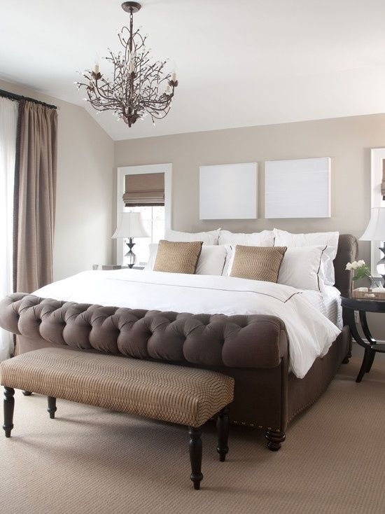 A serene bedroom with clean, fresh bed linens ...