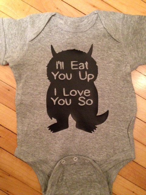Cute Where The Wild Things Are I'll Eat You I by StellasShoppe, $13.00