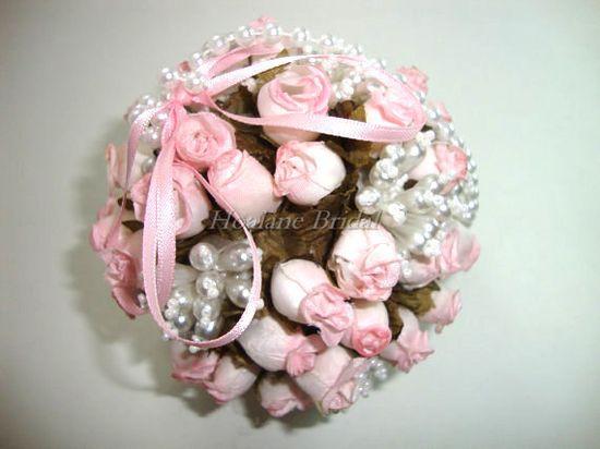 Flower girl Kissing Ball pink Flower ball by Hoalanebridal on Etsy, $35.00 #Wedding #brides #flowergirl
