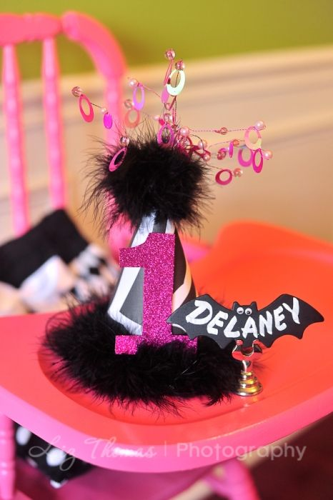 Pink Glam 1st Birthday Party - Pink Halloween Party - Kara's Party Ideas - The Place for All Things Party