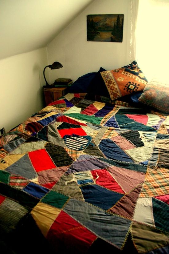 Oh my gosh. Hand made quilt. Possibly the best I've ever seen.