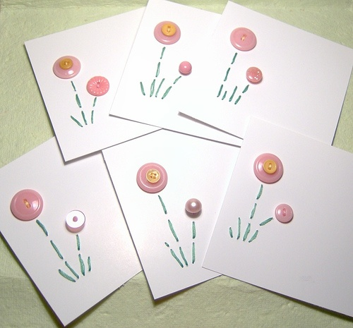stitched button cards