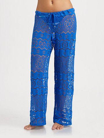 Ralph Lauren Blue Label - Crochet Beach Pants