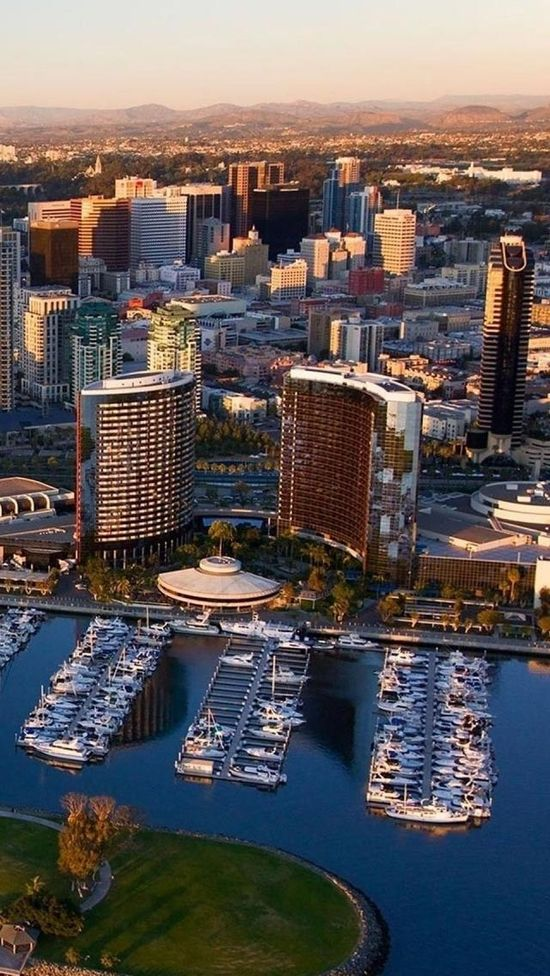 San Diego, California, Usa, Americas, Port, Yacht, Skyscrapers
