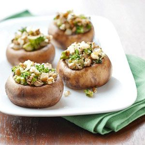 Greek Style Stuffed Mushrooms
