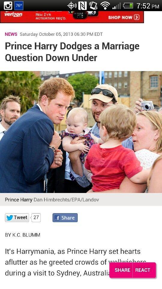 Harry loves babies ?