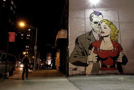 Comicbook Graffiti Murals
