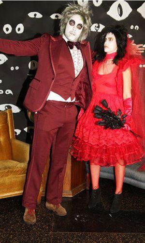 Beetlejuice & Lydia Deetz Halloween costumes