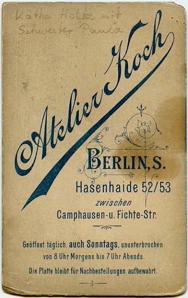 c. 1895  Atelier Koch, Berlin