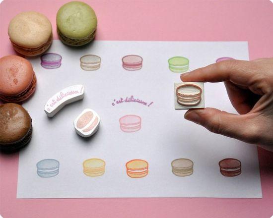 macaron stamps!