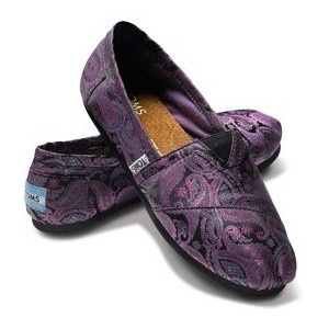 Purple Paisley TOMS