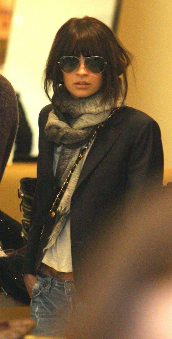 This makes me want my bangs back #scarf #jacket #hair