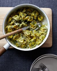 Cheese Tortellini with Walnut Pesto // More Delicious Vegetarian Pastas: fandw.me/lQQ #foodandwine