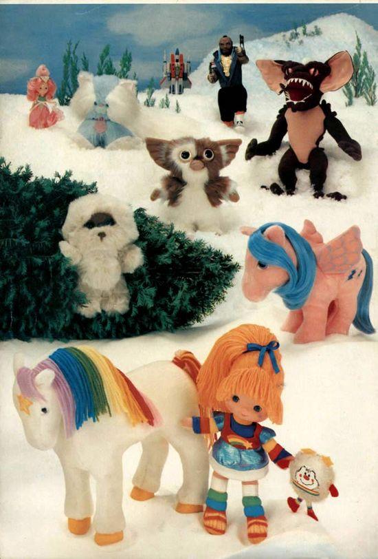 Christmas catalog inside cover of toys from a 1984 catalog. #1980s #toys www.retrowaste.co...