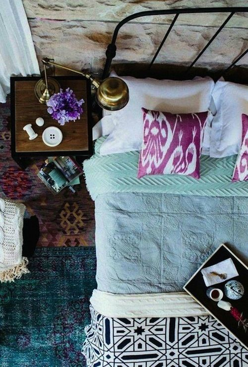#Bohemian #bedroom #design with a ton of lovely colors!