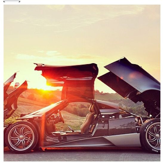 Beautiful sunset! For a Beautiful Car! - Pagani Huayra