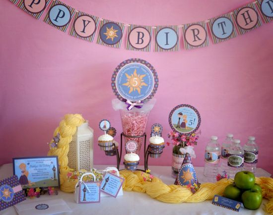 Rapunzel Tangled Inspired Birthday Party