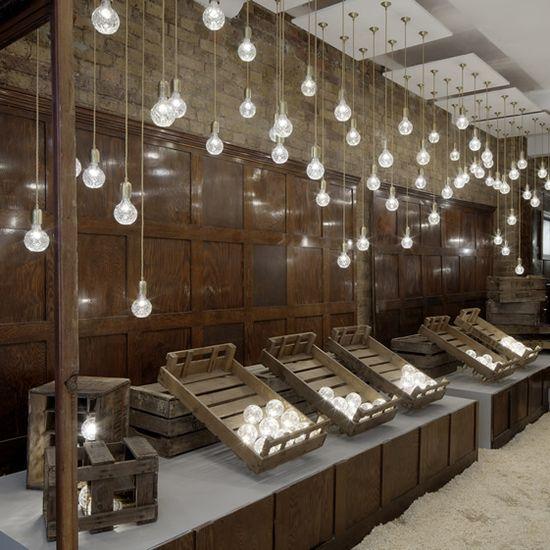 Lovely :)  Lee Broom's Crystal Bulb Shop