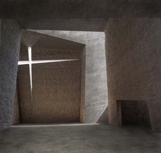 Iglesia del Santísimo Redentor / Menis Arquitectos. It seems raw concrete is used best in churches