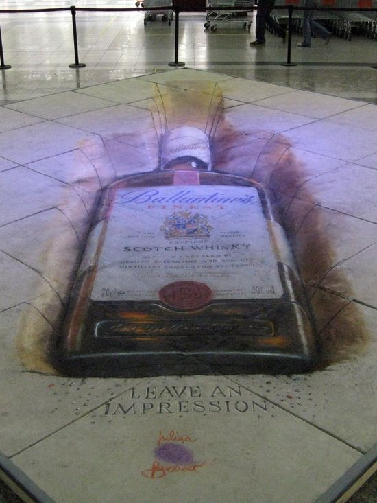 """Left an Impression"" 3D Sidewalk art!"