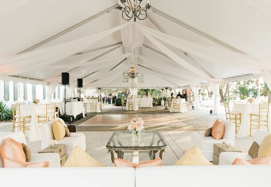 Outdoor, White Reception Tent // Riverland Studios // TheKnot.com