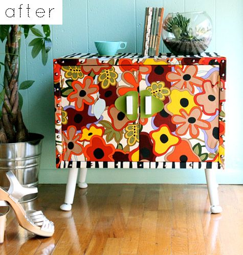 Upholstering furniture instead of painting! Love it!