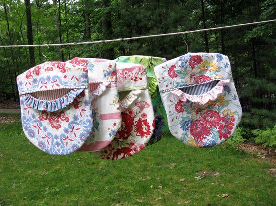 Ruffled clothespin bag   PDF sewing pattern