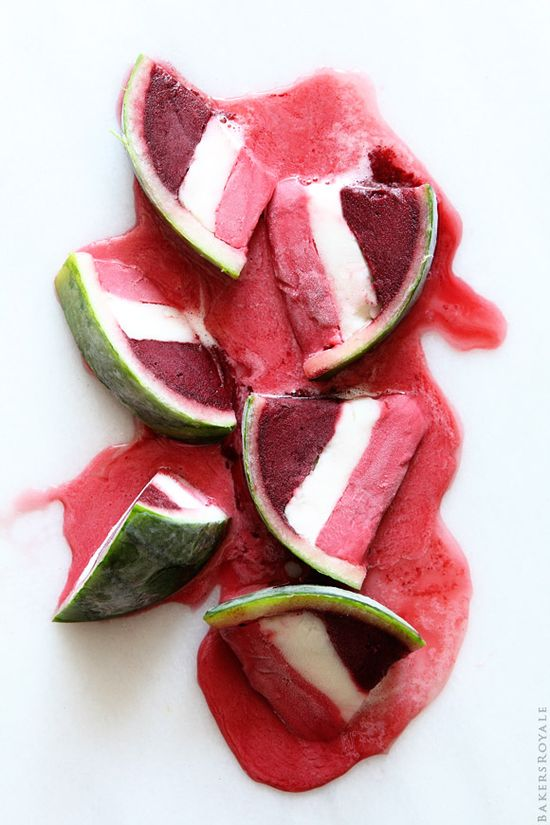Layered Sorbet Watermelon Wedges from Bakers Royale