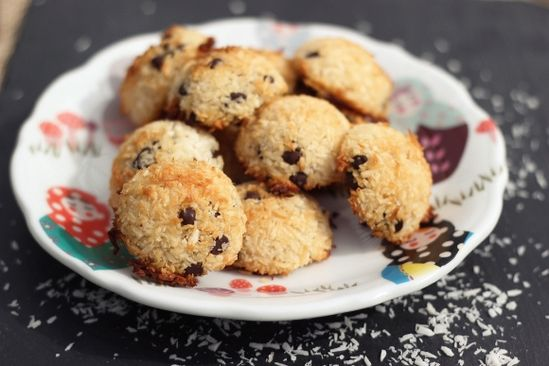 Chocolate Chip Coconut Macaroons (Gluten-Free & Dairy-Free)