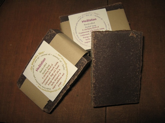 Meditation Herbal Soap by TheWoodwifesShop on Etsy, $4.00