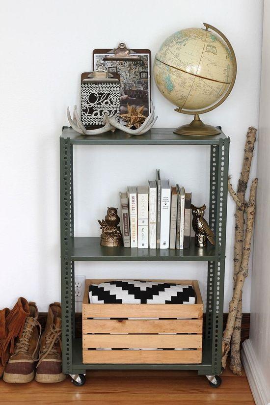DIY: shelving unit (2 ways)